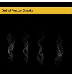 set cigarette smoke vector image