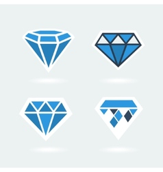 Set of symbols diamond vector image vector image