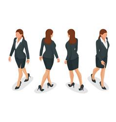 Set working elegant business women in formal vector