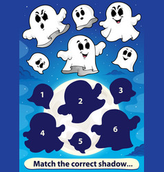 Shadow match game with ghosts 1 vector
