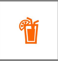 simple modern orange glass juice vector image