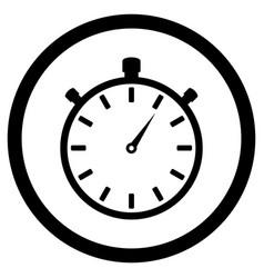 stopwatch black white icon vector image