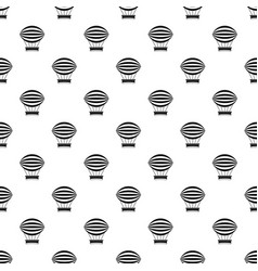 striped retro hot air balloon pattern vector image