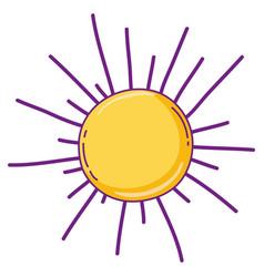 sun cartoon isolated vector image