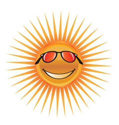 sun character with sunglasses logo vector image