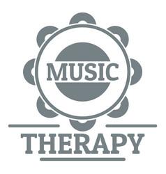 Tambourine logo simple gray style vector