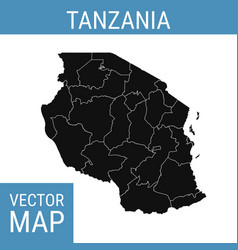 tanzania map with title vector image