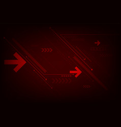 technology in the concept of arrows vector image