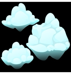 Three snow blocks ice iceberg vector image