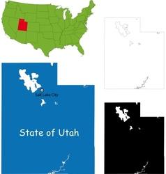 Utah map vector