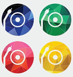Vinyl turntable icon Abstract Triangle vector image