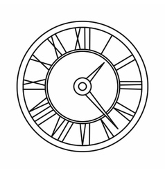 Watch icon outline style vector image