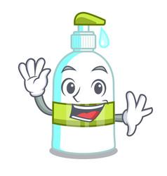 Waving liquid soap in a cartoon basket vector