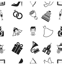 Weeding pattern icons in black style Big vector