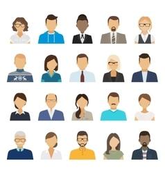 Business people flat avatars vector image