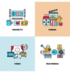 Entertainment cinema movie video concept vector image vector image
