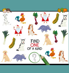 finding one of a kind game vector image vector image