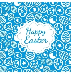 Happy Easter greeting card background color of the vector image