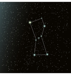 Orion constellation in night sky vector image