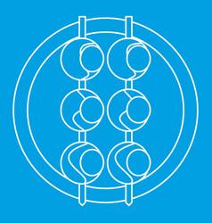 asian shashlik icon outline style vector image