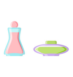 perfume glamour fashionable beautiful cosmetic vector image