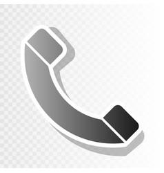 phone sign new year blackish vector image vector image
