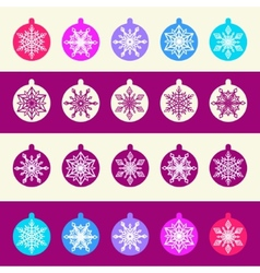 Seamless Pattern from Set of Christmas Balls with vector image vector image