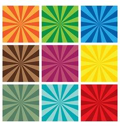 set of Sun Sunburst retro Pattern vector image vector image