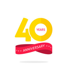 40 years anniversary logo 40th anniversary icon vector