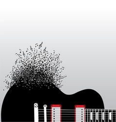 Guitar Notes Burst vector image vector image