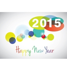 Happy new year 2015 card vector image