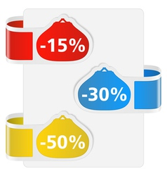 Labels for discount vector image vector image