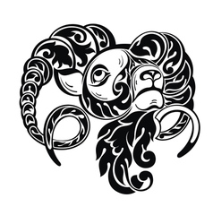 Ram sheep in tattoo style vector image vector image