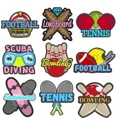 set of sports emblems badges logos vector image