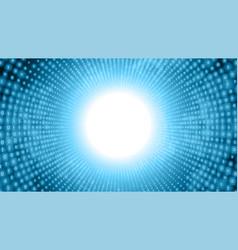 Binary big data stream visualization blue tunnel vector