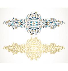 element luxury ornament vector image
