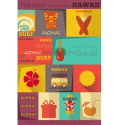 Hawaii Surf Retro vector image