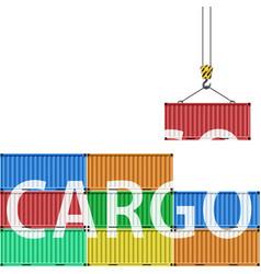 transportation of cargo vector image vector image