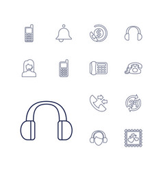 13 call icons vector