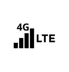 4g lte icon design template isolated vector image