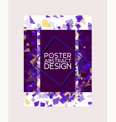 abstract design poster banner card vector image