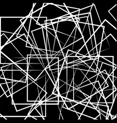 Abstract scattered square rectangle shapes vector