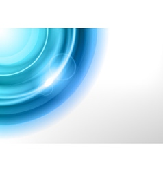 background blue light corner round vector image