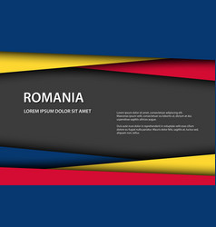 background with romanian colors vector image