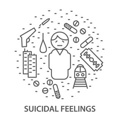 banners for suicidal feelings vector image