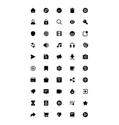 Baseline icon set for web and mobile ui vector