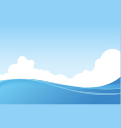 Beautiful marine landscape vector