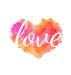 Beautiful watercolor heart vector image