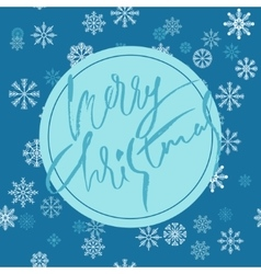 Blue christmas background with christmas blue vector image