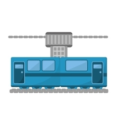 Blue train cabine vacation travel vector